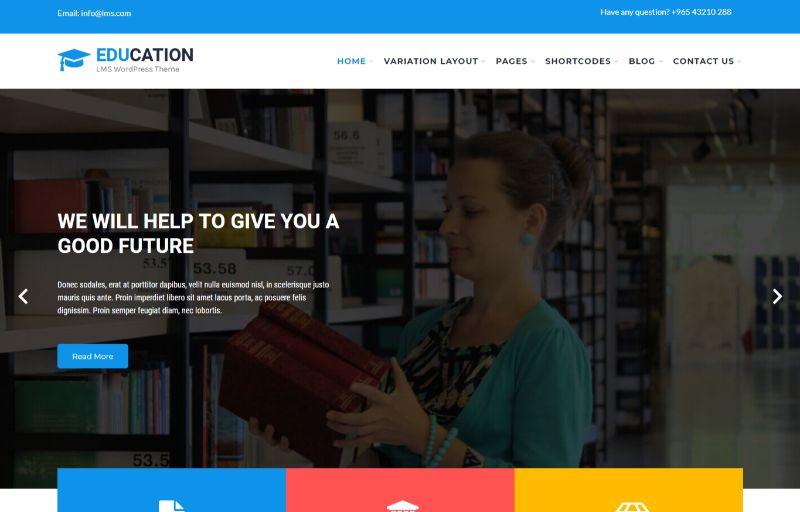 SKT Education WordPress theme