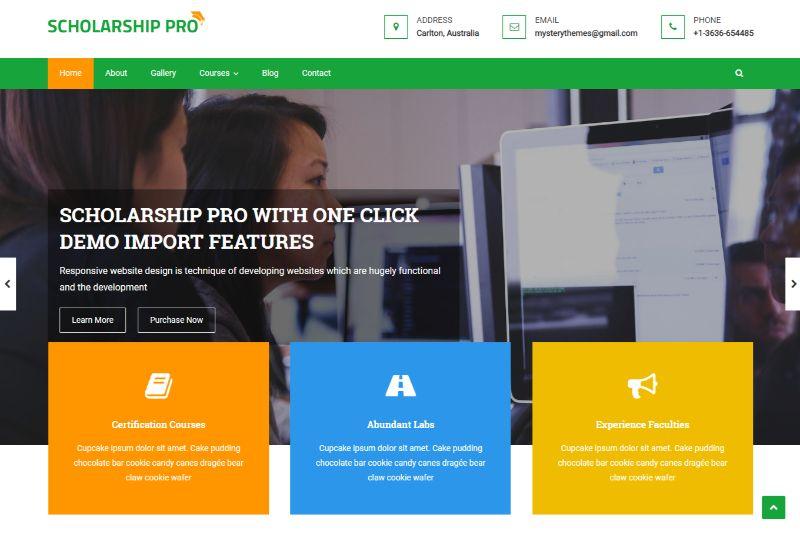 Scholarship Pro Education WordPress theme