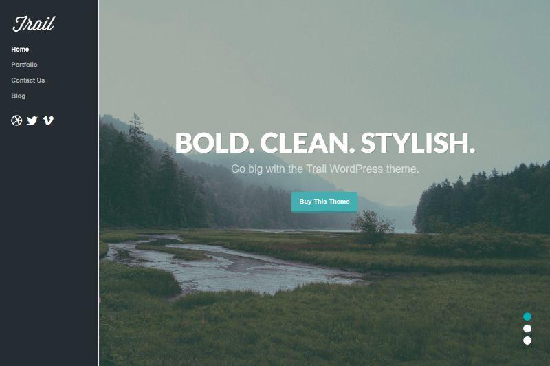 Trail Personal Blog WordPress Theme