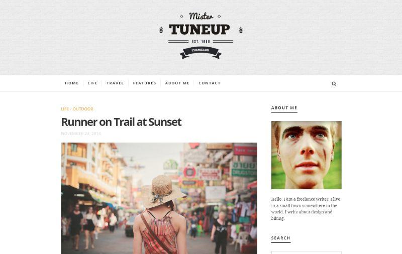 TuneUp Personal Blog WordPress Theme