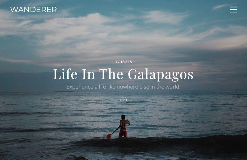 Wanderer Personal Blog WordPress Theme