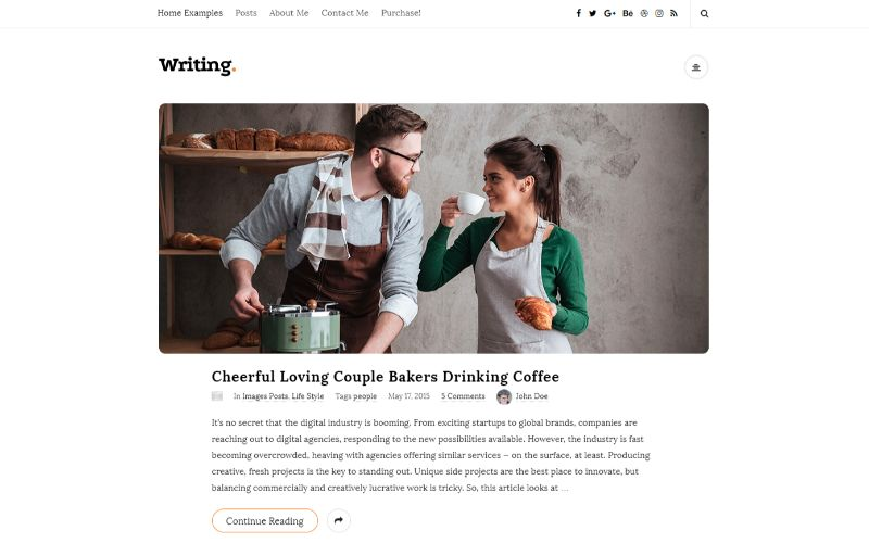 Writing Personal Blog WordPress Themes