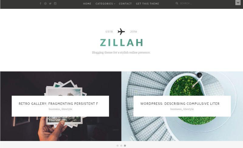 Zillah Personal Blog WordPress Theme