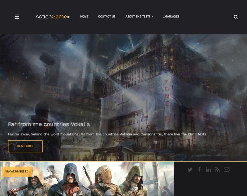 Actiongame Gaming WordPress Theme