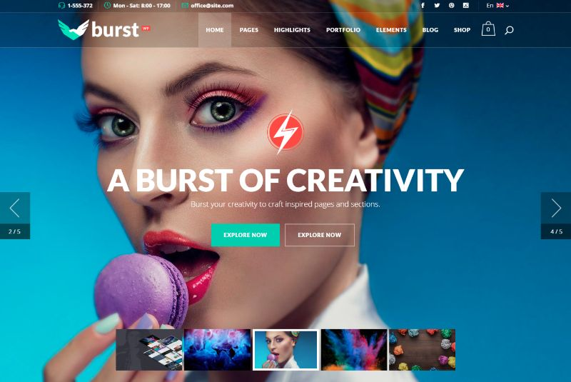 Burst Agency WordPress Theme