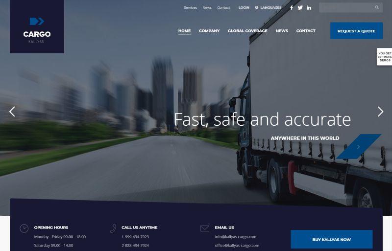 Cargo Logistics WordPress Theme