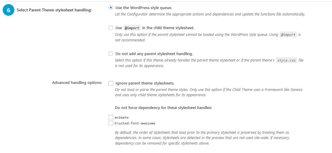 Child Theme Options