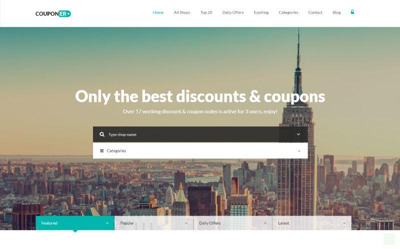 Couponer Coupon WordPress Theme