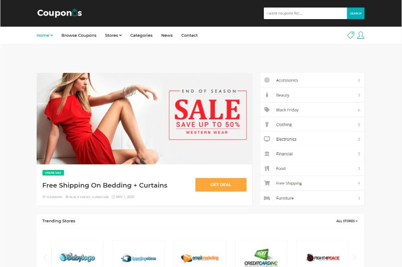 Couponis Coupon WordPress Theme