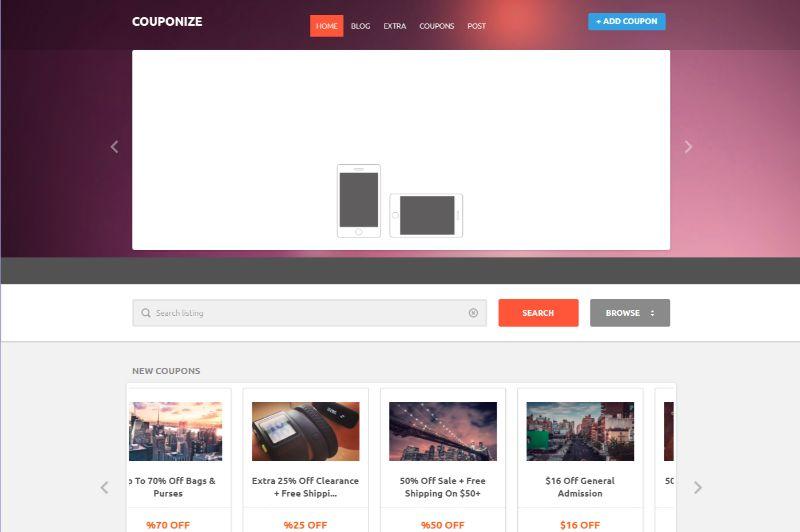 Couponize Coupon WordPress Theme