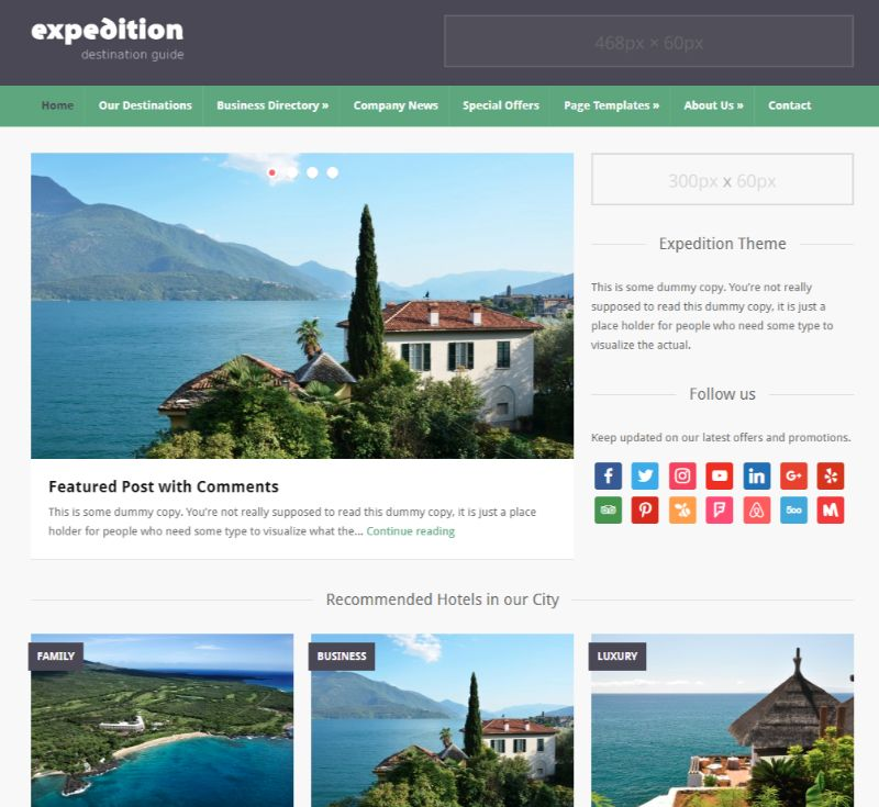 Expedition Directory WordPress theme