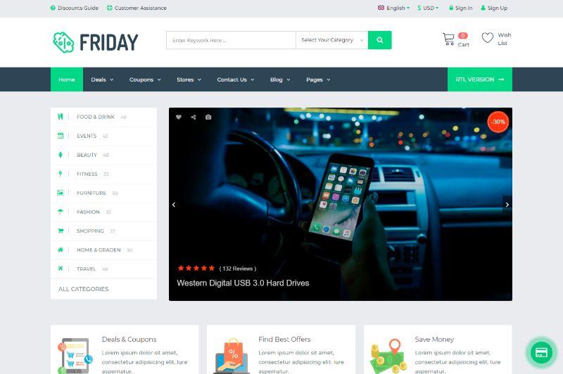 Friday Coupon WordPress Theme