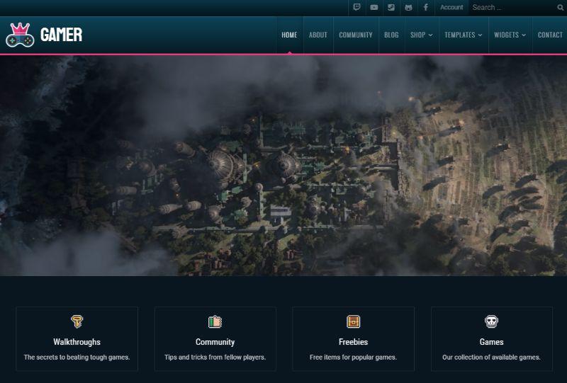 Gamer Gaming WordPress Theme