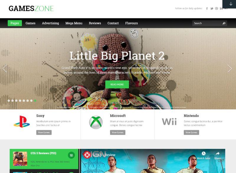 GamesZone Gaming WordPress Theme