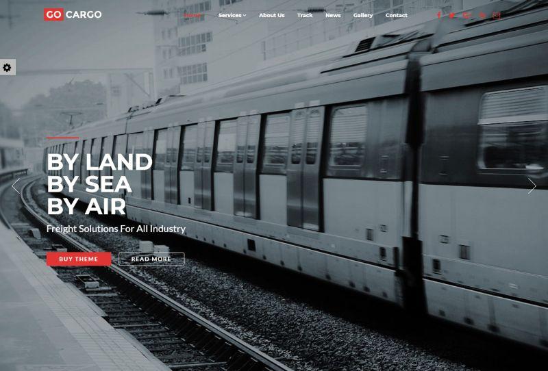 GoCargo Logistics WordPress Theme