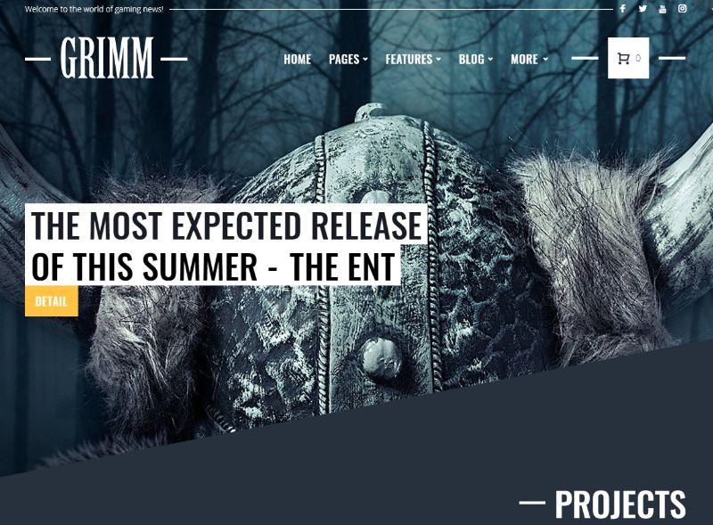 Grimm Gaming WordPress Theme