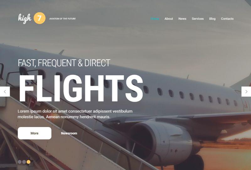 High7 Logistics WordPress Theme