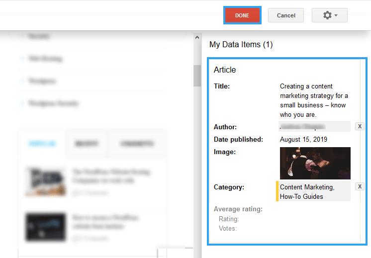 Highlighting data items