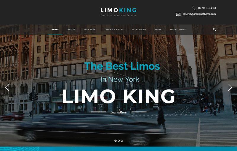 LimoKing Logistics WordPress Theme