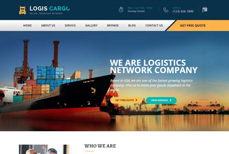 LogisCargo Logistics WordPress Theme