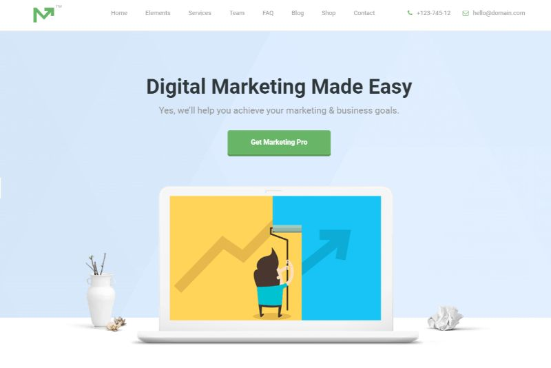 Marketing Pro Agency WordPress Theme