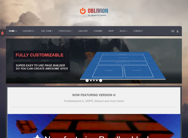 Oblivion Gaming WordPress Theme