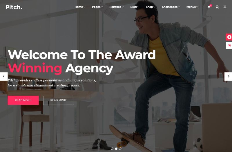 Pitch Agency WordPress Theme