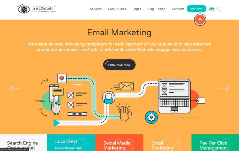 SEOSight Agency WordPress Theme