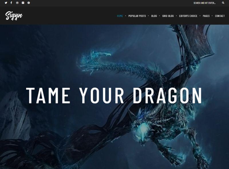 Sigyn Gaming WordPress Theme