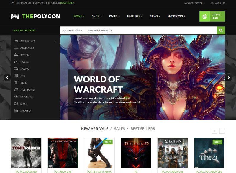 ThePolyGon Gaming WordPress Theme