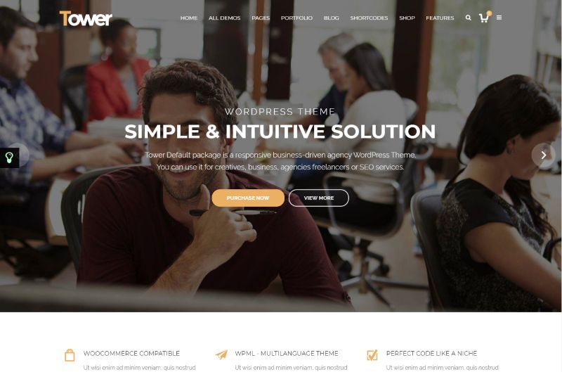 Tower Agency WordPress Theme
