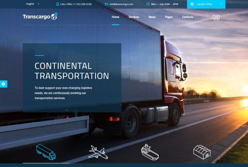 Transcargo Logistics WordPress Theme