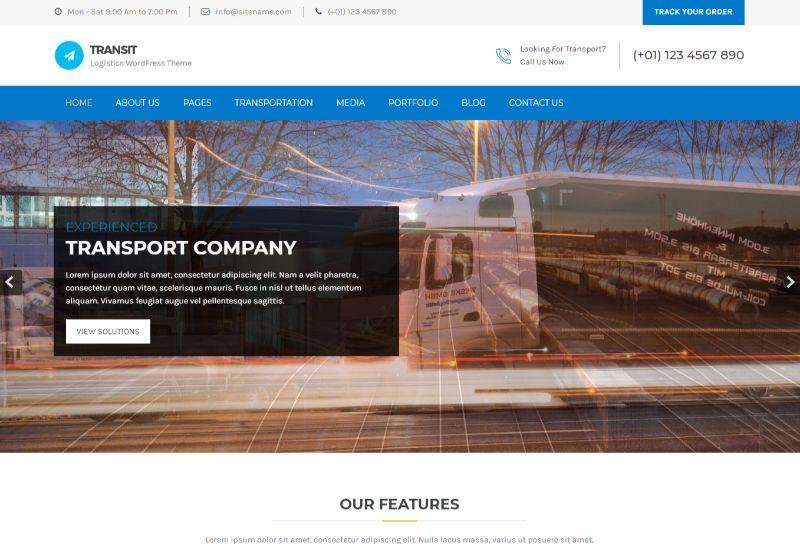 Transit Logistics WordPress Theme