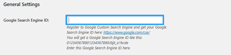 WP Google Search ID config