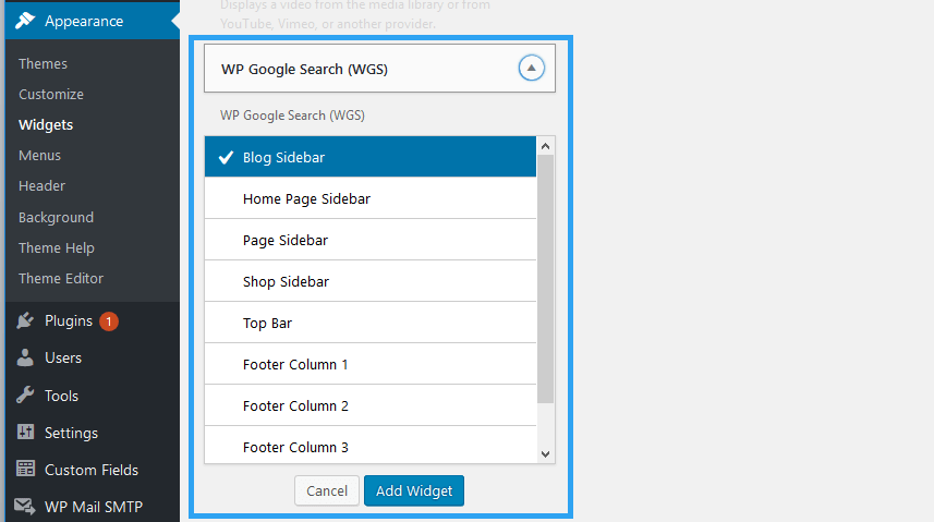 Thesis google custom search widget
