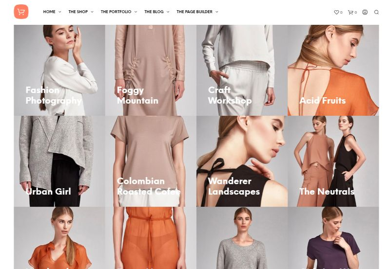 ShopKeeper Four Columns WordPress Theme