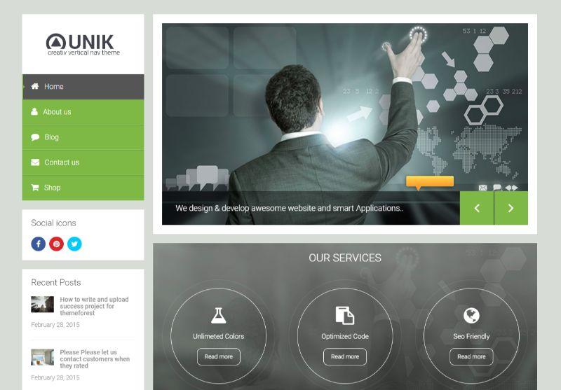UNIK Left Sidebar WordPress Theme