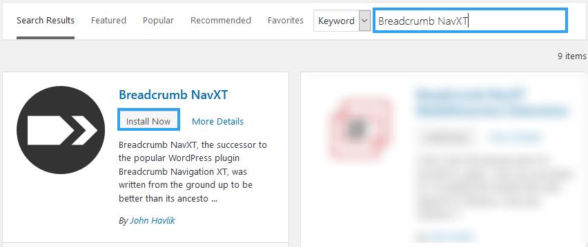 Install Breadcrumb NavXT