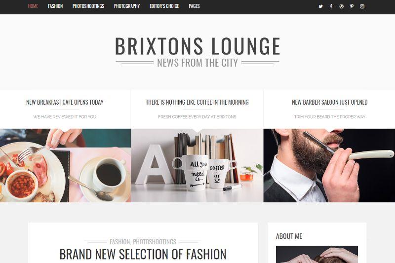 Brixton One Column WordPress Theme