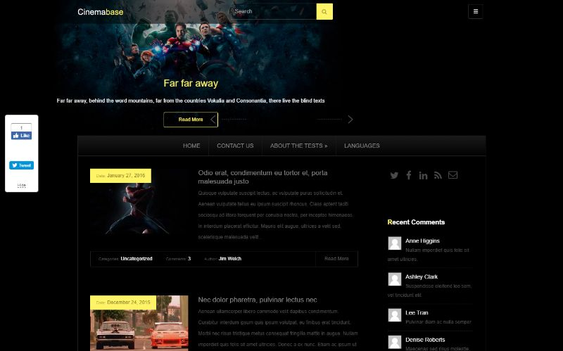 CinemaBase WordPress Movie Film Theme