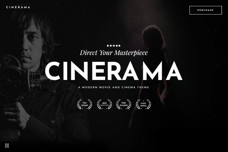 Cinerama WordPress Movie Film Theme