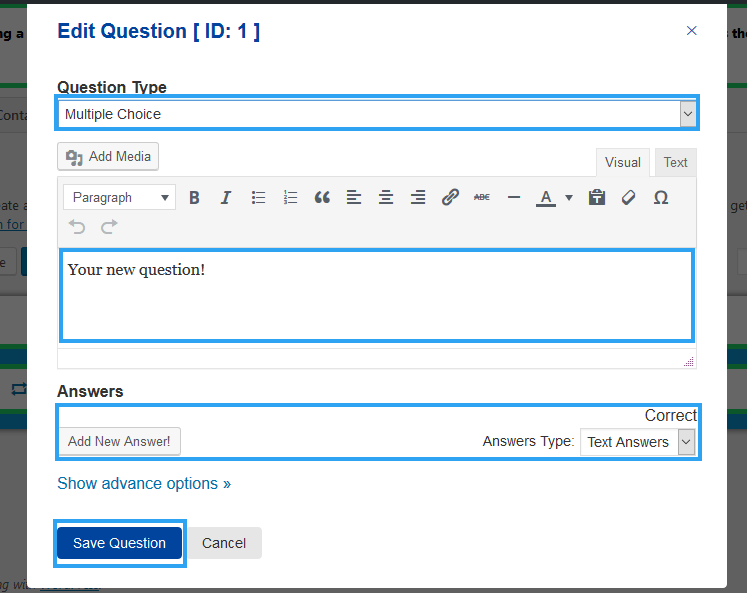 Edit questions