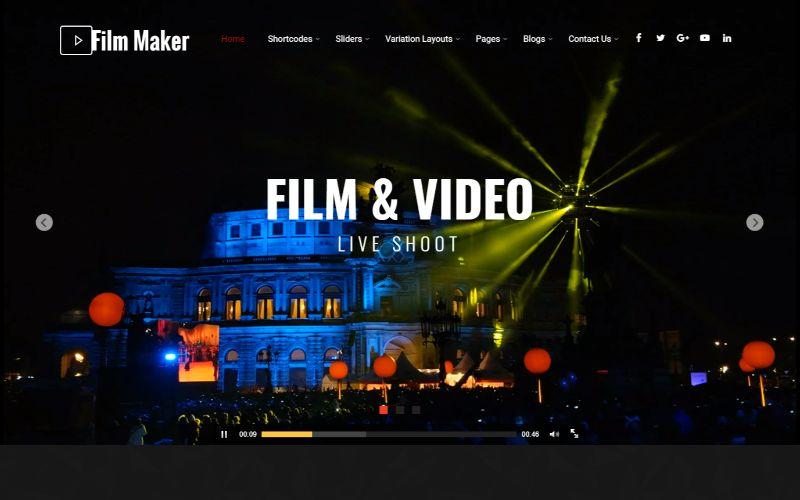 Filmmaker WordPress Movie Film Theme