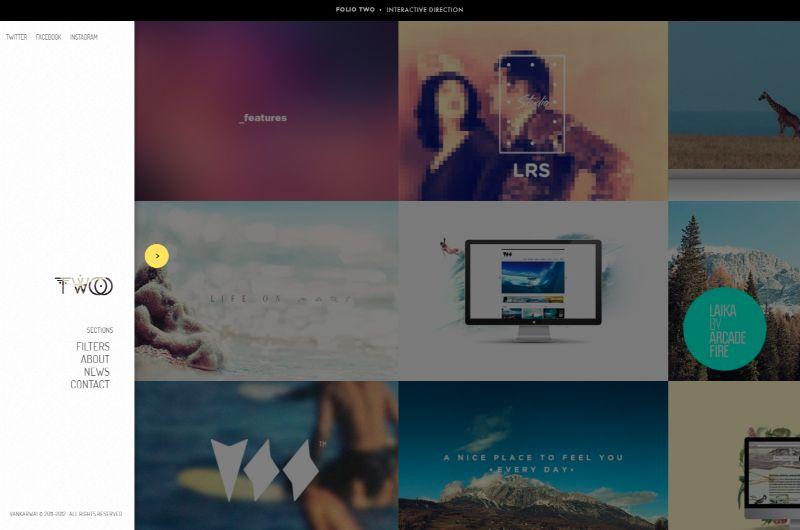 Folio Two Left Sidebar WordPress Theme