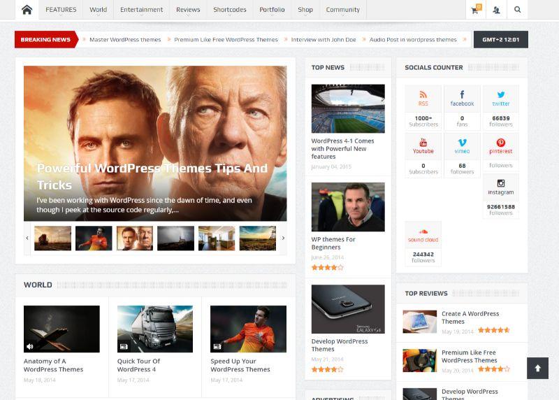 GoodNews Three Column WordPress Theme