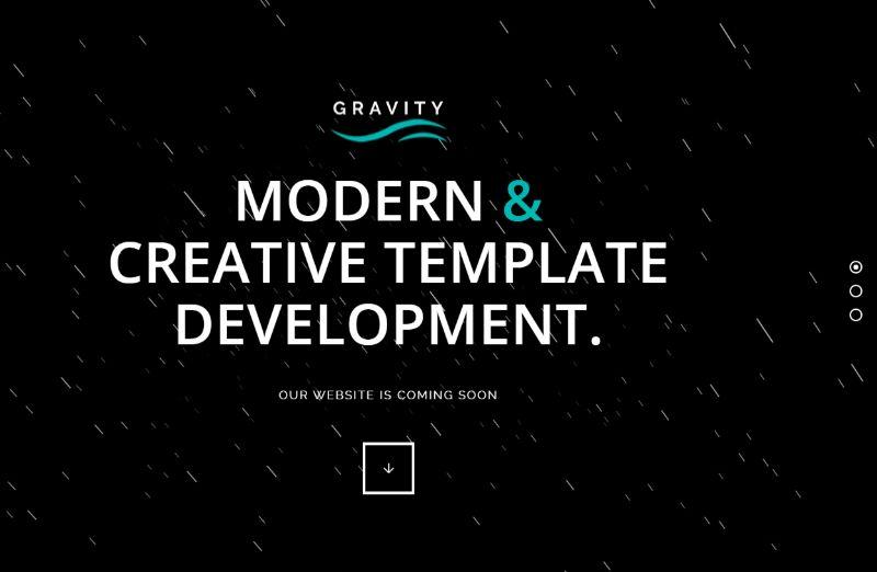Gravity Coming Soon WordPress Theme