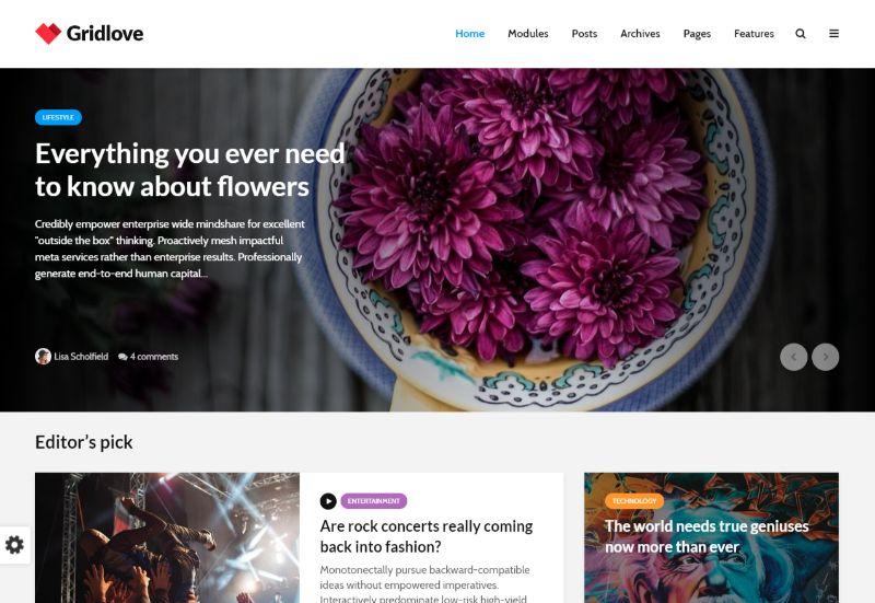 Gridlove Grid WordPress Theme