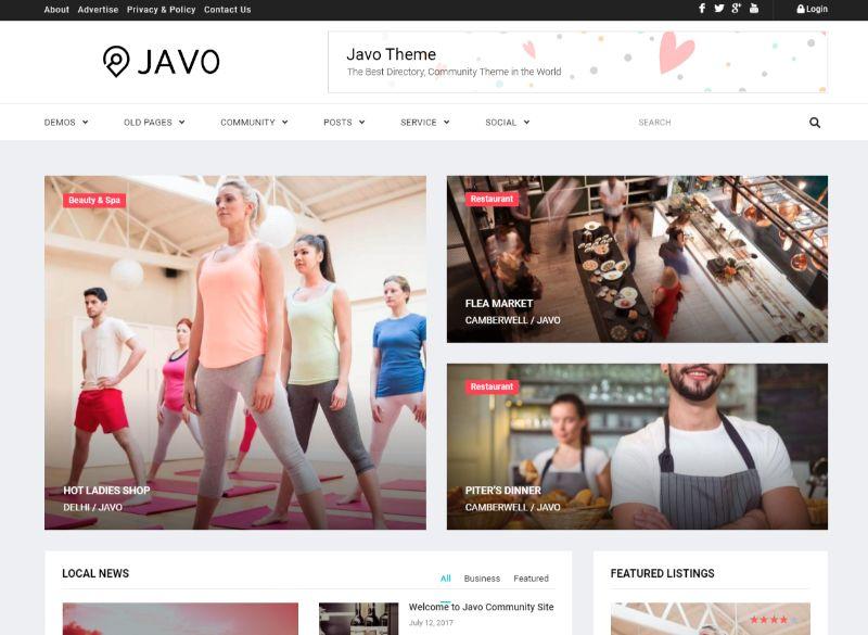 Javo Three Column WordPress Theme