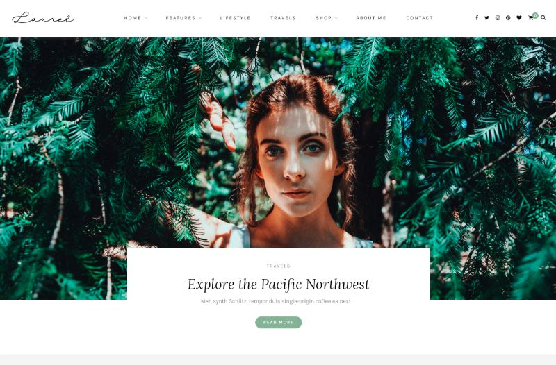 Laurel Right Sidebar WordPress Theme