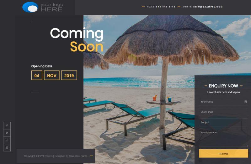Luzuk Coming Soon WordPress Theme